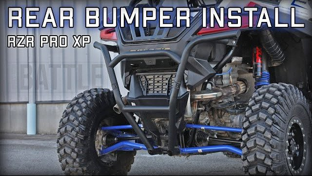 How to install a rear bumper on a Polaris RZR PRO XP