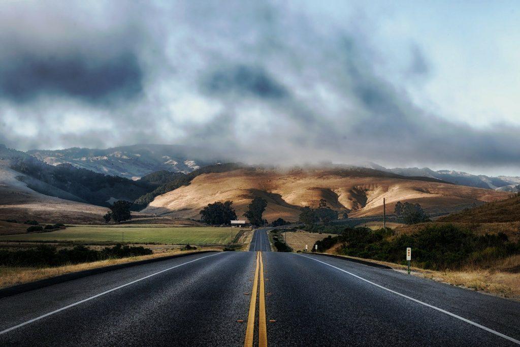 An empty, open highway