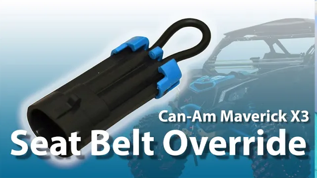 A SuperATV Seat Belt Override for the Can-Am Maverick X3