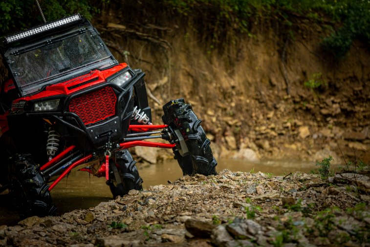 A Polaris RZR Turbo with and ECU flash tune and clutch kit