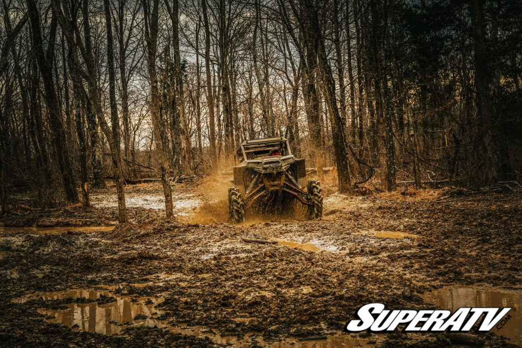 Protect your investment with an ATV or UTV insurance policy. This is especially important if you ride hard, like in this photo.