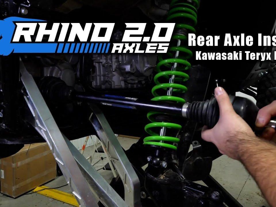 Installing a Rhino 2.0 Axle on the rear of a Kawasaki Teryx KRX 1000